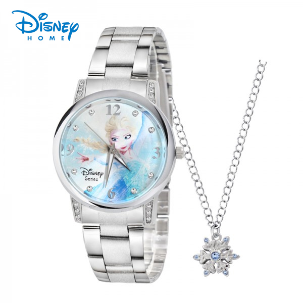 100% Genuine Disney Women Watches Luxury Stainless Steel Children Watch For Girls Frozen Elsa Quartz Wristwatch Relogio Feminino100% Genuine Disney Women Watches Luxury Stainless Steel Children Watch For Girls Frozen Elsa Quartz Wristwatch Relogio Feminino