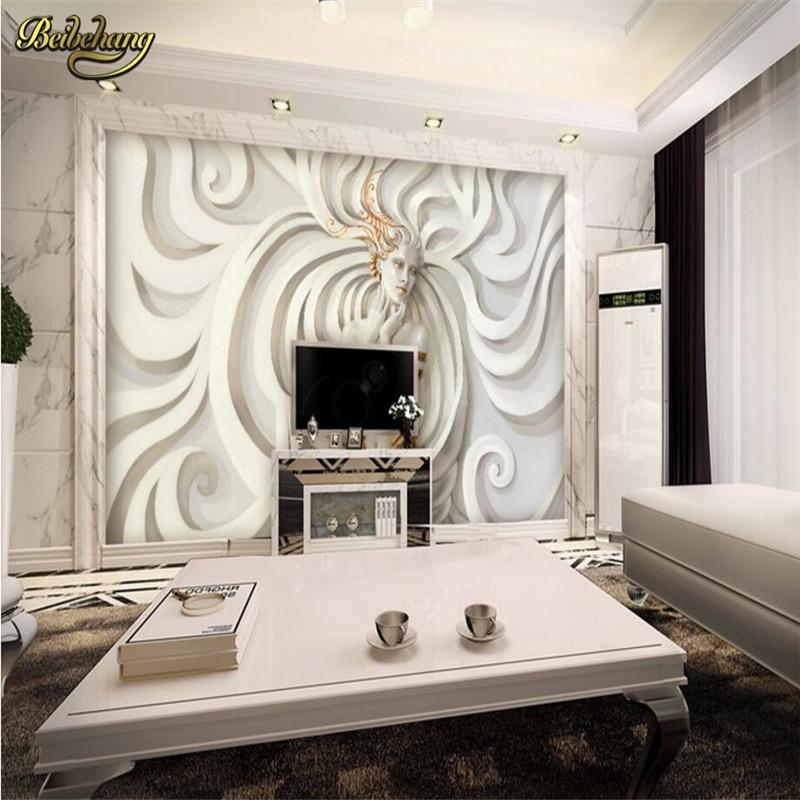 Beibehang Personnalisé Relief Sculpture Belle Femme Photo Papier Peint  Mural 3D Papier Peint Art Design Chambre Bureau Salon Rouleau Dans Fonds  Du0027écran De ...
