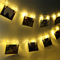 Oobest 40 LED Clip String Lights Fashion Photos Battery LED Decoration Fairy Light Christmas New Year