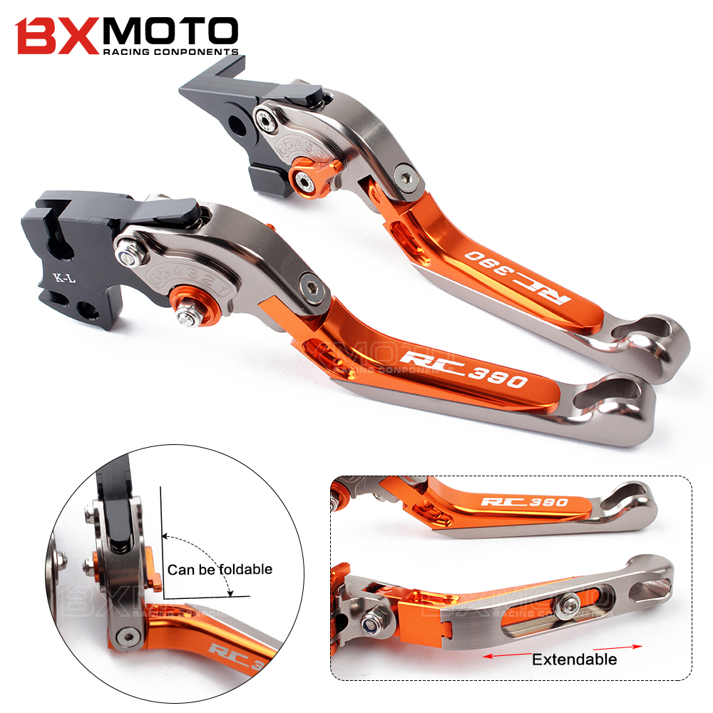 цена Fit For KTM Duke 125 200 390 RC 125 200 RC 390 2013 2014 2015-2017 2018 CNC Motorcycle Brakes Clutch Levers with Logo RC390 duke