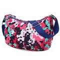 Women's Simple Style Dumpling Shape Nylon Cross-body Shoulder Bag Light weight Messenger Bag sac a main