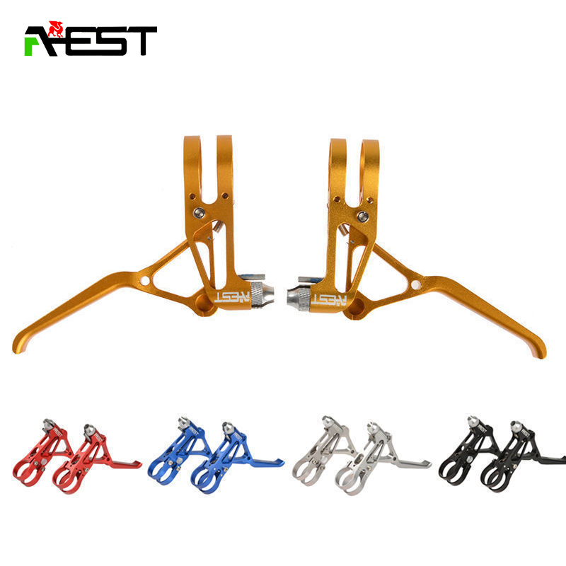 Bicycle V Brakes AEST Disc Brakes Bike ultra-light aluminum brake Crank Levers, MTB BIKE Brake handlebar CNC 70g 1pair aluminum alloy bicycle crank chain wheel mountain bike inner bearing crank fluted disc mtb 104bcd bike part