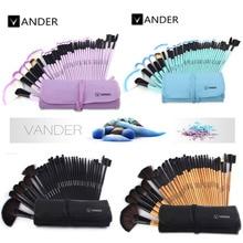 VANDER 32pcs Makeup Brushes Set Professional Cosmetics Brush Eyebrow Foundation Shadows Kabuki Make Up Tools Kits + Pouch Bag