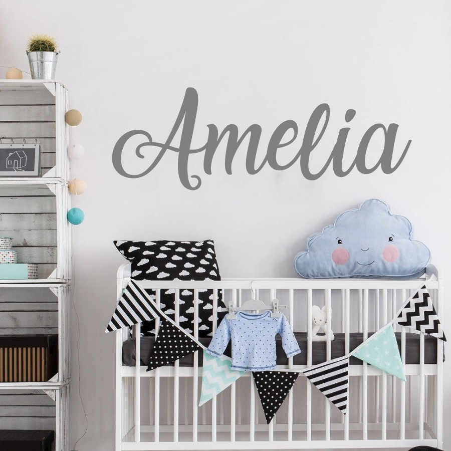 Personalized Wall Sticker, Name Wall Decal, Nursery Decor, Boys Girls Decal, Vinyl Wall Decal Beauty Salon Wall Decals