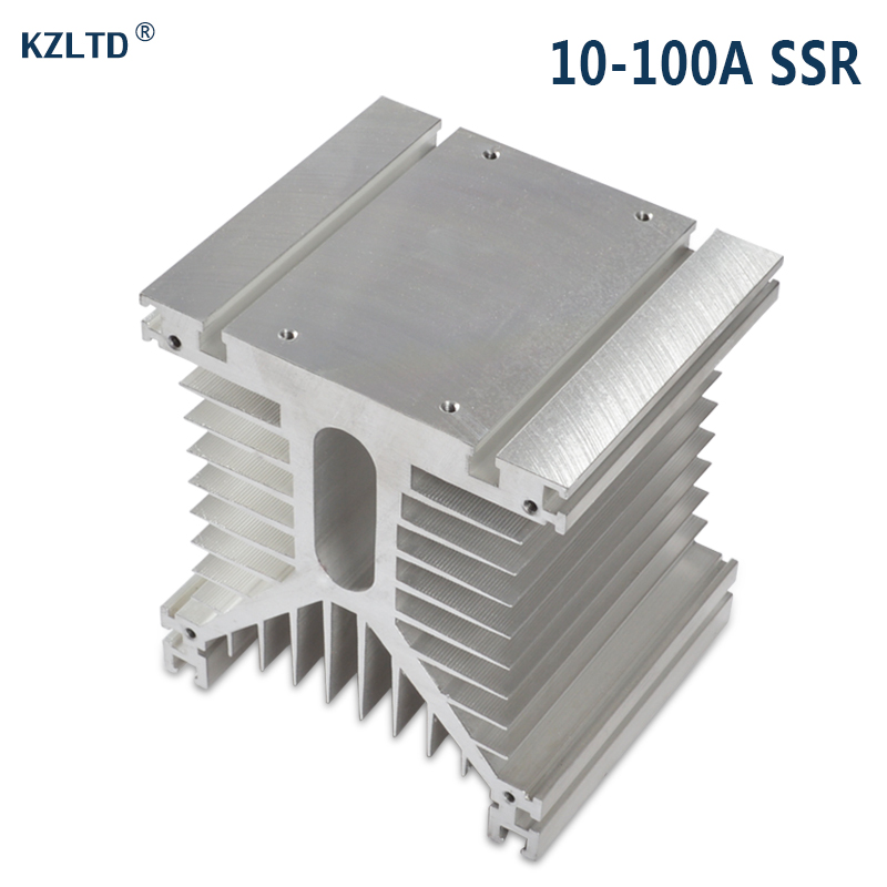 Aluminum Heat Sink for Solid State Relay SSR 80A 100A  Three Phase / Industrial High Power SSR Aluminum Heat Sink SR-Y high quality dc to ac solid state relay ssr 60da 60a 4 32v 75 480v aluminium heat sink