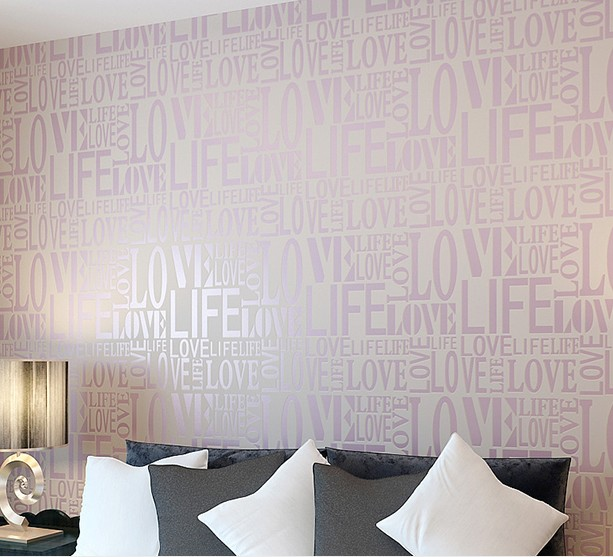 2016 new hot selling non-woven wallpaper English letters modern Korean TV background wall paper sitting room bedroom warmth non woven bubble butterfly wallpaper design modern pastoral flock 3d circle wall paper for living room background walls 10m roll