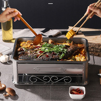Stainless steel consumer and commercial rectangular grilled fish stove seafood wood carbon grilled fish dish shelf LL5311731