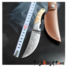 High-end camping hunting knife Browning 440C+shadow wood handle deer head knife boutique gift survival outdoor EDC tool