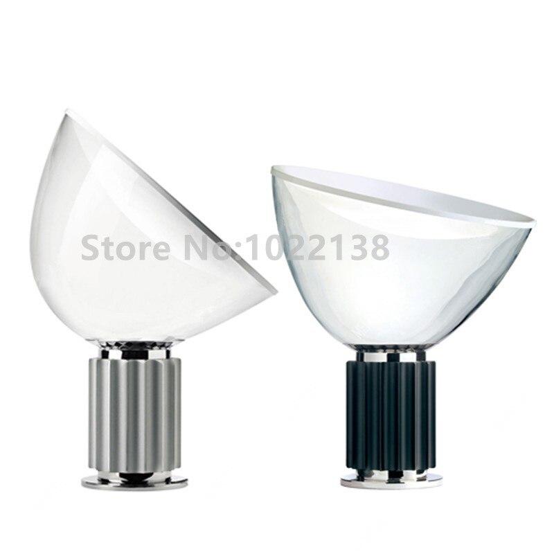 Modern Radar Style Table Lamp Glass Lampshade Desk For Living Room Office Hotel E27 Abajur