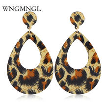 Женские акриловые серьги wngmngl винтажные массивные с леопардовым