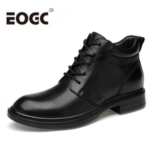 цены Natural Cow Leather Men boots Russian Style Full Grain Leather Men Ankle boots Handmade Men Shoes Autumn winter Snow Boots shoes