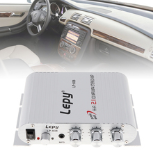 Hi-Fi Stereo Amplifier 12V Mini Booster Radio MP3 1/8 inch audio jack for Car Motorcycle  Home Audio