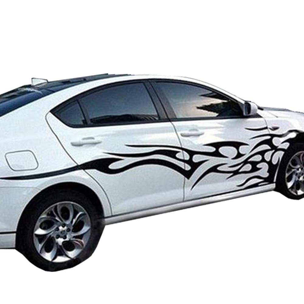 Car sticker design fire - Quidux Universal Car Body Sticker Fire Flame Decor Vinyl Decals For Car Truck China