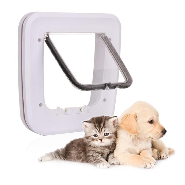 Pet Door Automatic Closing Door Pet Safe 4 Way Locking Exterior
