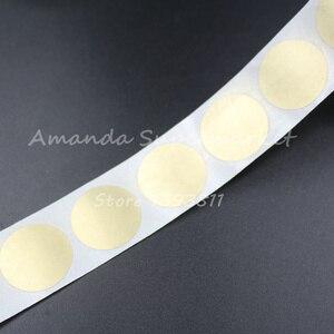 "Image 4 - לגרד את מדבקה באיכות גבוהה 1000 יחידות 25*25 מ""מ 1 ""צבע זהב עגול ריק עבור קוד סודי כיסוי משחק בית חתונה"
