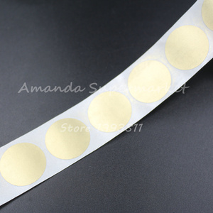 """Image 4 - High Quality Scratch Off Sticker 1000Pcs 25*25mm 1"""" Round Gold Color Blank For Secret Code Cover Home Game Wedding"""