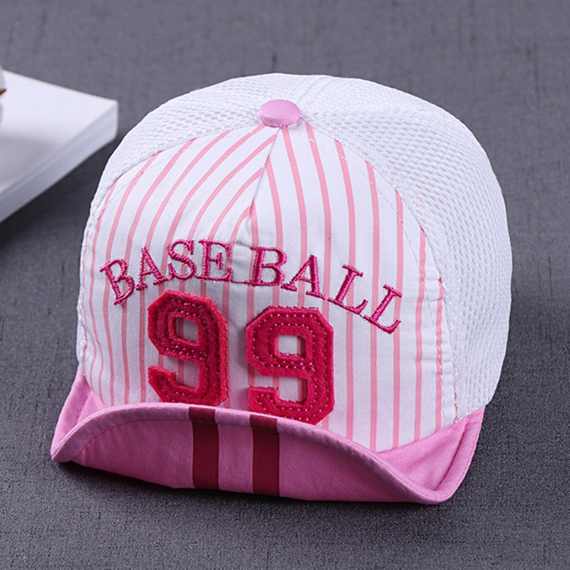 Baby Hat Girl Boy Digital Striped Baseball Cap Infant Cotton Unisex Toddlers Sun Cap in Hats Caps from Mother Kids