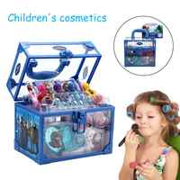 Kids Cosmetic Make-up Set for Girls Ice Romance Princess Makeup Case Birthday Gift Play House Toy toy for children