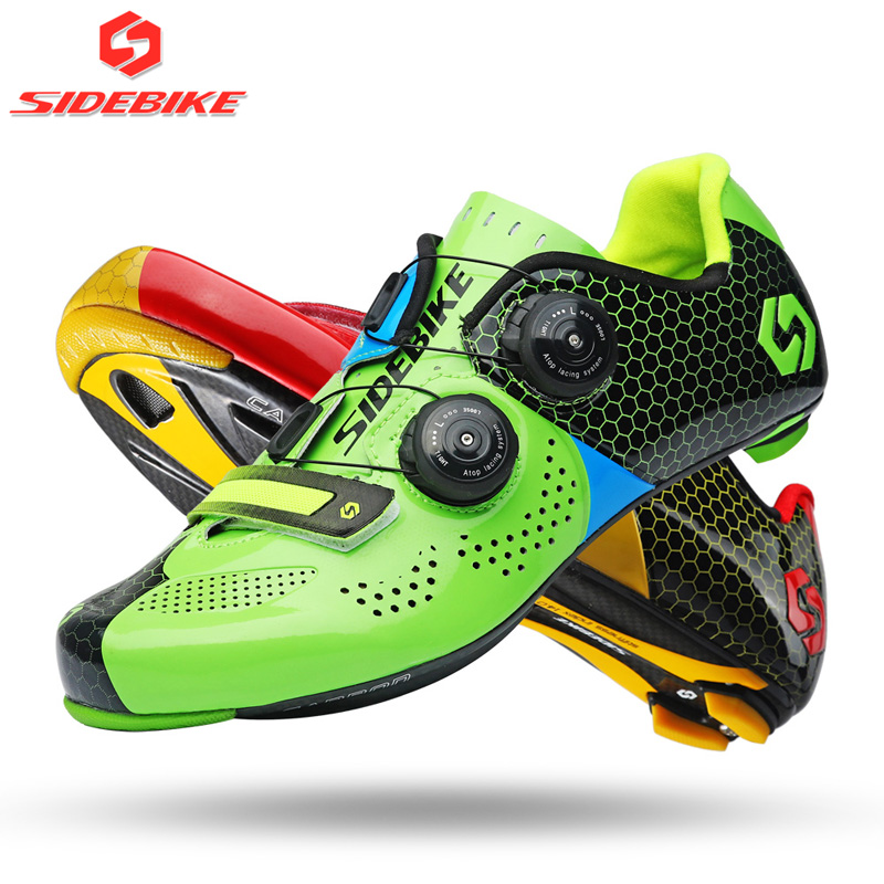 NEW SIDEBIKE Bicycle bike Carbon Cycling Shoes For Women & Men Self-Locking Carbon shoes Road Bike Racing Shoes 2018 new color sidebike mens road cycling shoes breathable road bicycle bike shoes black green 4 color self locking zapatillas ciclismo 2016