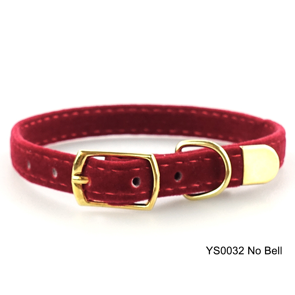 Solid Cat Collar With Bell Safety Cat Collars Adjustable Puppy Dog Collar For Small Dogs Cats Kittens Pet Collar Products YS0032 (10)