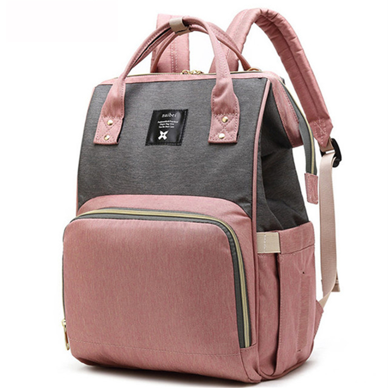 2019 Baby Diaper Bag Pink Color Large Baby Changing Nappy Mummy Maternity Travel Backpack For Mom Nursing Stroller Bags