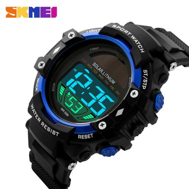 Moda Solar Relógios dos homens À Prova D' Água Relógio Do Esporte Digitais Data Calendário Masculino relógio de Pulso Relógio Horas relogio masculino Relojes