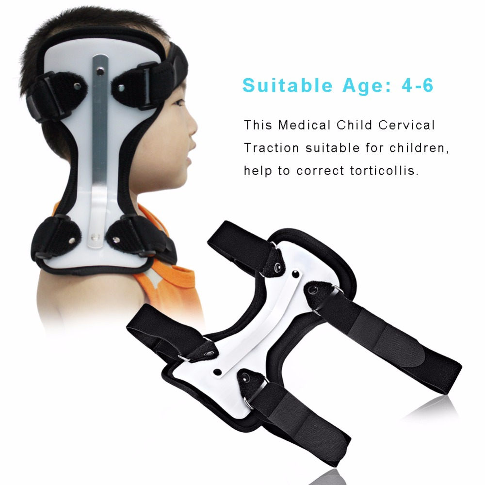 OPER Medical Child Cervical Neck Traction Device Neck Collar Corrector Support Brace Kid Torticollis Orthotics Cervical Traction medical polymer envelope neck collar cervical spondylosis cervical holder torticollis cervical traction s m l