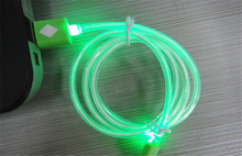 crystal led light Micro USB Cable Sync Data Charger Cables for iphone5 5s 6 6s for