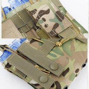 Image 5 - Новая 1000D нейлоновая Военная Пейнтбольная Экипировка, тактическая три открытых топа сумка для журнала, быстрая AK M4 Famas сумка для хранения