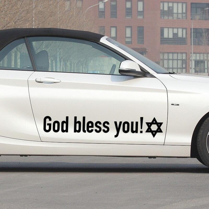 3 Pairs Shield of David Car-Styling God bless you For vw audi ford bmw opel Nissan Juke Qashiqai accessories