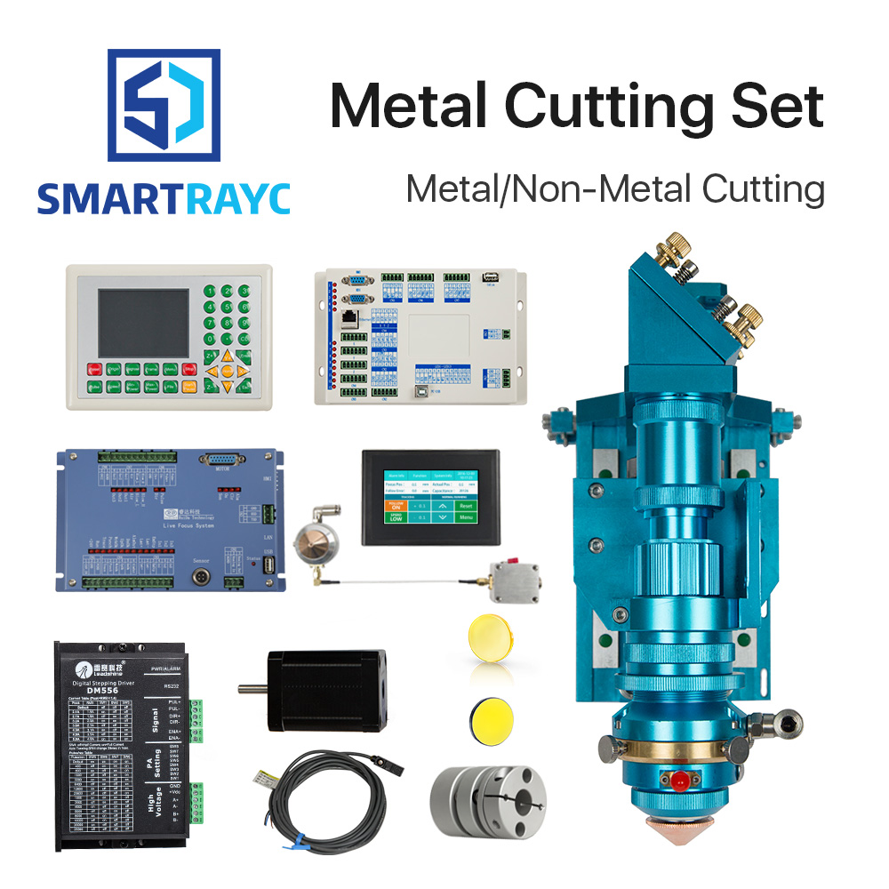 Smartrayc Ruida Metal Cutting Set CO2 Laser 150-500W Metal Non-Metal Hybrid Auto Focus for Laser Cutting Machine 500w co2 laser cutting metal machine head and non metal mixed cut head motor and driver for laser cutting machine laser tools
