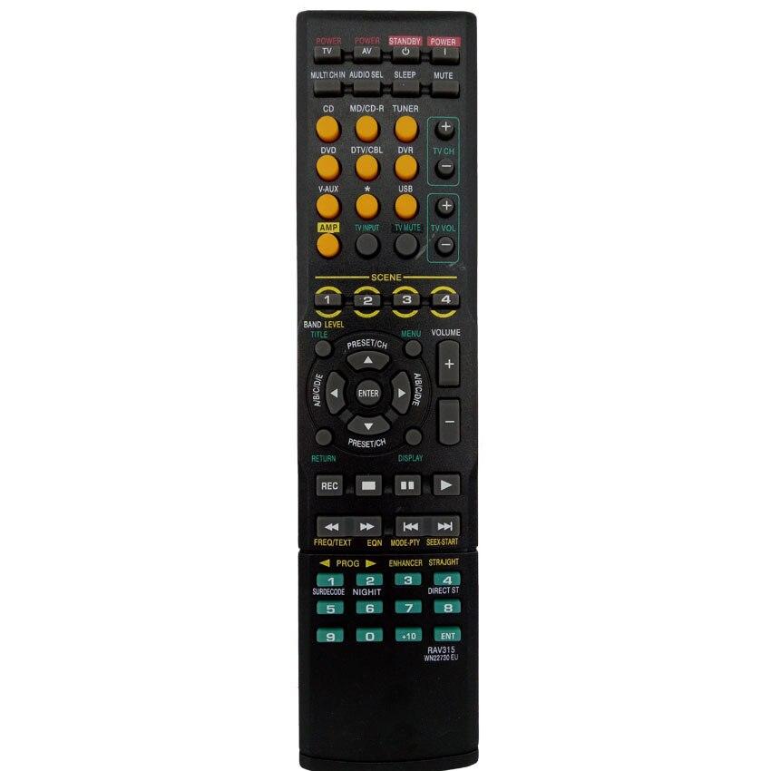 universal new remote control for yamaha rav315 home audio rav311 wk22730 wk22730eu htr 6050. Black Bedroom Furniture Sets. Home Design Ideas