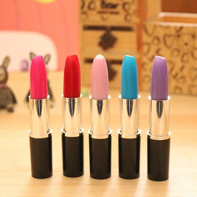 Student Cute Kawaii ballpoint Pen Creative lipstick Ball pen For Kids Novelty Item Stationery Gift School Supplies 1506 4