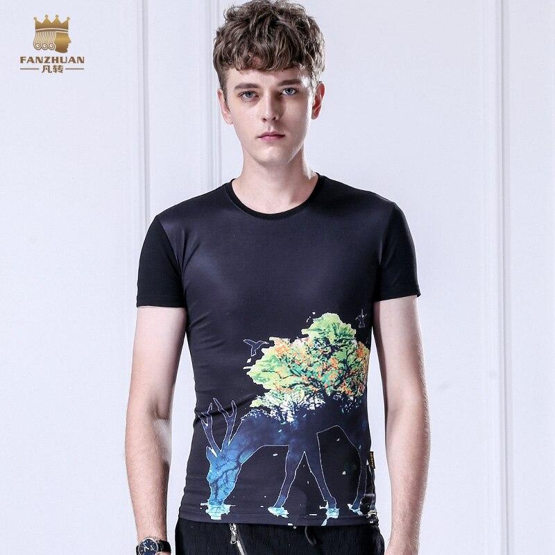 Бесплатная доставка Новая мода повседневная мужская 2016 лето с коротким рукавом Печатный белый узор футболка печать 8012 на распродаже