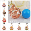 """H024 45"""" Wax Leather Charms Rose Gold Locket Pendant Unborn Baby Gift Angel Caller Pregnant Women Harmony Bola Ball Necklace"""