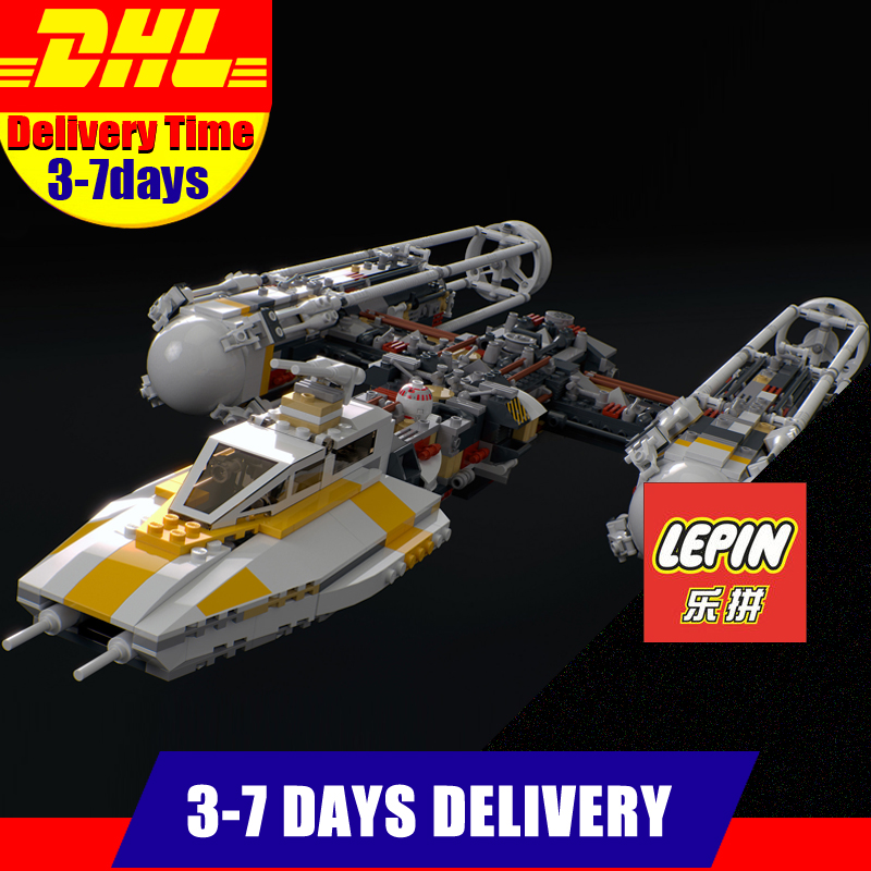 Fit F 10134 DHL LEPIN 05040 1473Pcs Star Series Y-wing Attack Starfighter UCS Model Building Kits Blocks Bricks Toys Gift lepin 05040 y attack starfighter wing building block assembled brick star series war toys compatible with 10134 educational gift