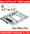 "Para Mac Pro macpro New 2.5 ""SSD de 3.5"" SATA Hard Disk Drive HDD Adapter Caddy Bandeja GAIOLA Hot Swp Plug tão fácil Frete grátis"