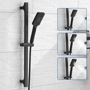 Image 1 - Barra deslizante de chuveiro, barra de alta qualidade preta para parede, conjunto de trilho deslizante ajustável, 3 funções, chuveiro, estilo minimalista