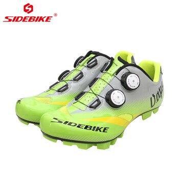Homens Auto-bloqueio de Estrada Sapatos de Mountain Bike MTB SIDEBIKE Anti-slip Respirável Ciclismo Sapatos de Bicicleta de Carbono com ou nylon Único