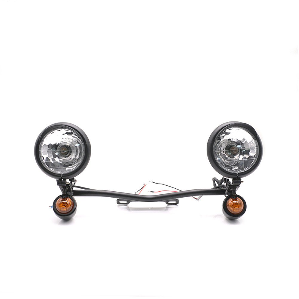 Chrome Passing Turn Signals Light Bar For Honda VT Shadow Ace Classic 500 700 750 1100/Harley Dyna Sportster Touring XL 1200 883Chrome Passing Turn Signals Light Bar For Honda VT Shadow Ace Classic 500 700 750 1100/Harley Dyna Sportster Touring XL 1200 883