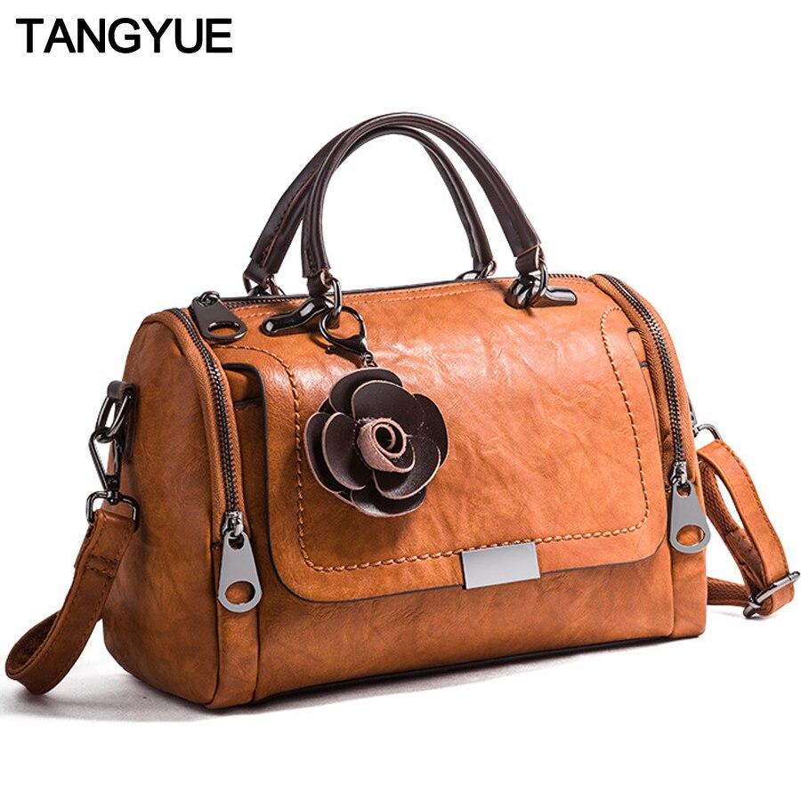 TANGYUE Crossbody Bags For Women's Shoulder Bag 2019 Leather Luxury Handbags Designer Ladies Hand Bags Women Sac A Main Femme