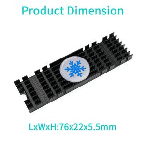Image 5 - Aluminum Heatsink Radiator Extruded Heatsink for PCIe NVMe M2 2280 SSD Heat Dissipation Cooling Cooler with Silicone Thermal Pad