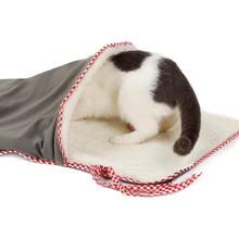 Cat Sleeping Bag Rustling Sounding Paper Cat Playing Tunnel Warm House Winter Iron Cage Cat Sack Anti-cold Pet Bed