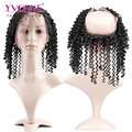 YVONNE 360 Full Lace Frontal Closure,Kinky Curly Virgin Brazilian Lace Frontal Closure,Lace Size 22.5x4