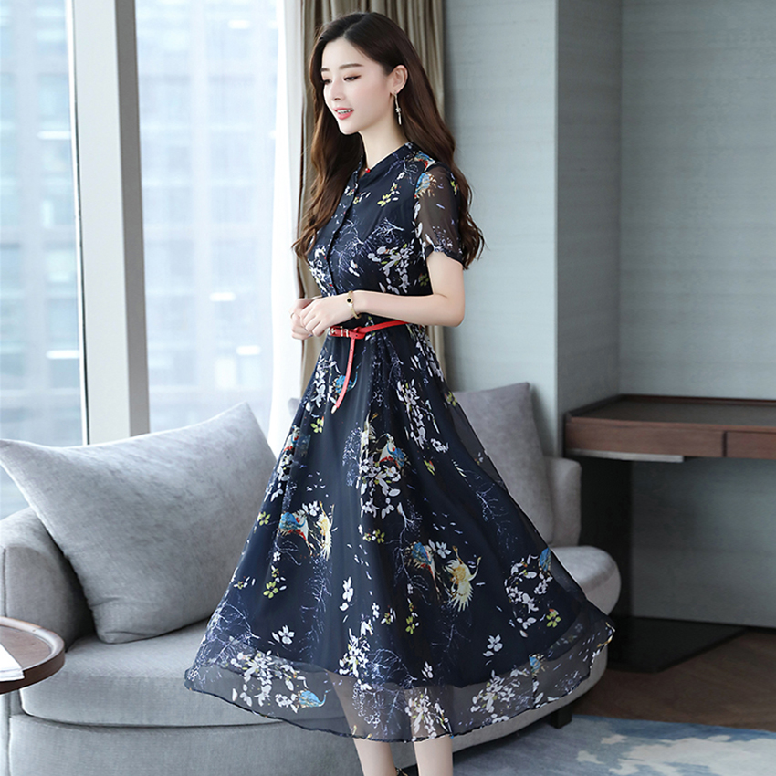 da4fbd18aab01 Summer Vintage Chiffon Floral Dress Plus size Maxi sundress Boho 2018  Elegant Women club Midi dresses Party Long Dress Vestidos