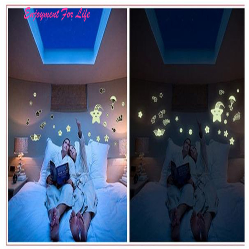 Cartoon Home Decals Decor Glow In The Dark Wall Sticker New Arrival High Quality Meteor Shower Free Shipping Dec 9