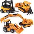 1:64 Scale Die cast Mini Car Series Excavator Cultivator  Forklift Bulldozer Construction Car Kids Toys Vehicles Engineering Car