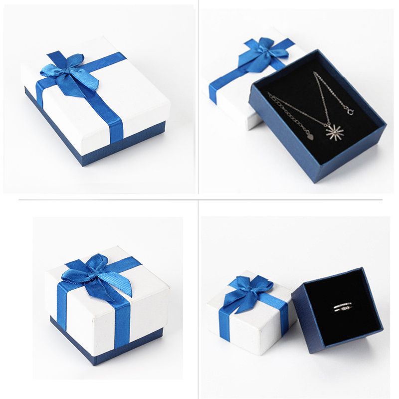 ROMAD Luxury Gift Box Jewelry Display Package Boxes Dropshipping Present Box Necklace Rings Paper Package R4