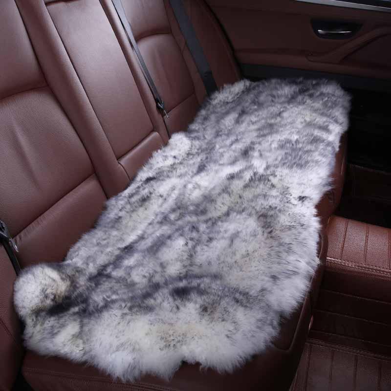 Prix pour Intérieur de la voiture accessoires housses de siège De Voiture en peau de mouton coussin style de fourrure 6 couleur POUR RETOUR COUVRE 2015 HTD001-B