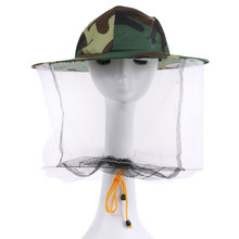 Beekeeper Bee Insect Fly Mask Bucket Hat with Net Mesh Face Mask Mosquito Face Protect Cap Mesh Cover Fishing Insect Supplies